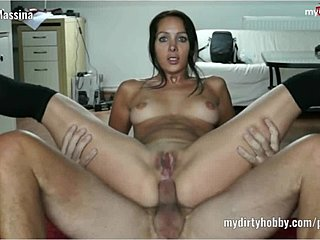 German, Riding, Assfucking, Anal, Stockings, Trimmed pussy, Shaved pussy