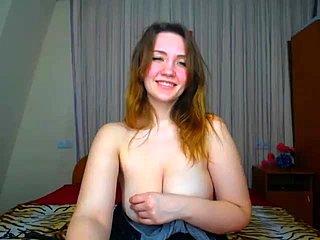Sexy große Titten Striptease